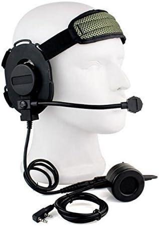 ATAIRSOFT Z Tactique Bowman Elite II Headset PTT /étanche pour Kenwood 2broches Radio
