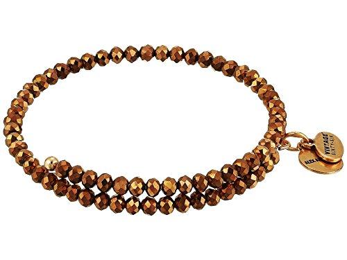 Alex and Ani Women's Brilliance Wrap Copper Spark Bracelet, Rafaelian Gold