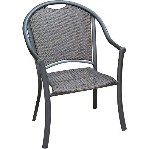 Hanover Commercial Woven Aluminum Dining Chair