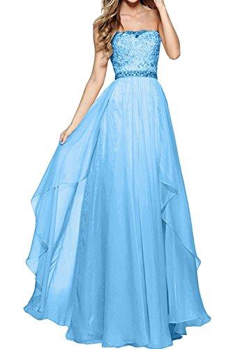 Ballkleider mia Spitze Blau Rock Kleider Partykleider Abendkleider Linie Prinzess Blau A Jugendweihe La Braut Langes Promkleider YpdqaaB