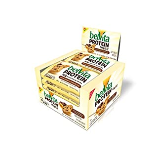 belVita Protein Soft Baked Biscuits, Oats, Honey & Chocolate, Easy to Open Box, 1.76 Oz, Pack of 8