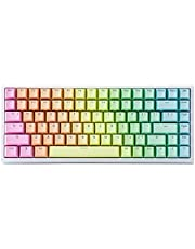 YUNZII Rainbow 84-Key RGB Hot Swappable Mechanical Gaming Keyboard with PBT Shine Through Keycaps for Mac/Win/Gamers (Gateron Blue Switch, Rainbow)