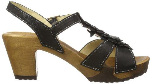Woody Sarah 14267/85 - Zuecos de cuero para mujer, Negro (Negro), 39