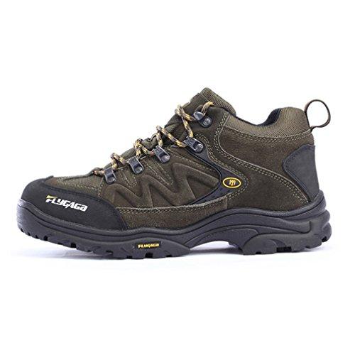 Flygaga De Résistant Trail Bottes Suède Chaussures Homme Trekking À Respirant Randonnée Marche L'eau Outdoor Armée Verte Sport AR35jL4