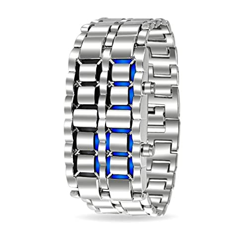 Bling Jewelry Mens Stainless Steel Back Faceless Lava Blue Watch Alloy (Blue Lava Watch)