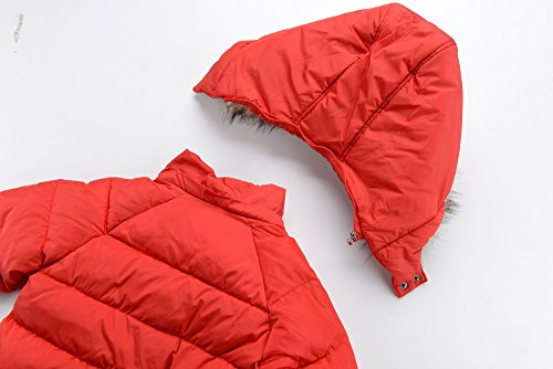 M2C Boys Winter Faux Fur Hooded Warm Insulated Jacket Parka 6/7 Red by M2C (Image #3)