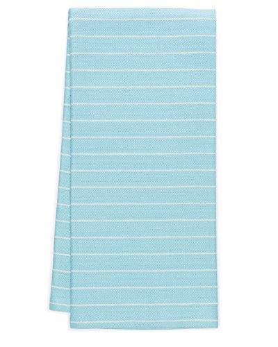 Pacific Home Soft Weave Premium 100% Cotton Kitchen Dish Towels (Aqua/Cream)