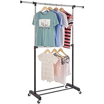 Amazon Com Mainstays Adjustable 2 Tier Garment Rack Home