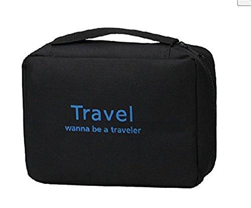 Sunkni Portable Toiletry Bag Wash Bag Bathroom Hanging Bag Travel Bag Zipper Storage Bag Drawer