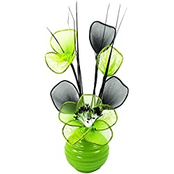 Flourish 32 cm Vase with Mesh Mini Flower TW, 813 Lime/ Green
