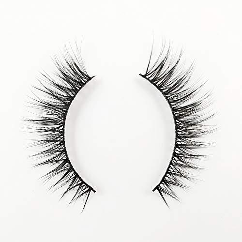 EDA LUXURY BEAUTY FEMME 3D Faux Mink False Lashes | Super Soft Natural Look | Full Volume | Extra Long Length | Eyelash Extensions | Criss Cross Cat Eye Effect | Vegan & Cruelty-Free | Fake Eyelashes