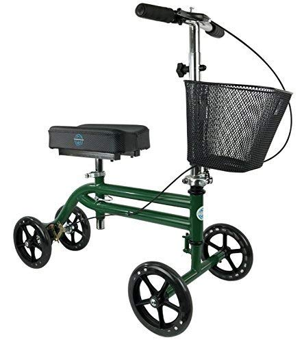 KneeRover Steerable Knee Scooter Knee Walker Crutches Alternative in Green (Best Crutches For Foot Surgery)