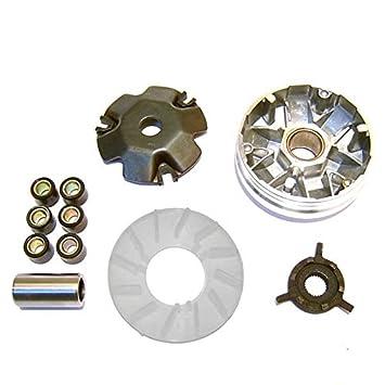 Eleganantamazing - Kit de variador para Scooter con polea de Embrague Delantero con Rodillo para GY6/49CC/50CC/60CC: Amazon.es: Coche y moto