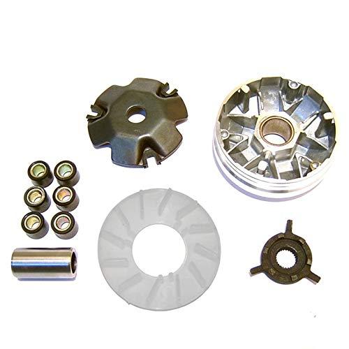 Ocamo Polea impulsora del Embrague Delantero del Kit del variador del ciclomotor de la Vespa con el Rodillo para GY6 / 49CC /...