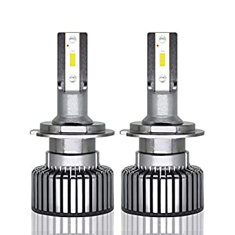 Kit de conversión bombillas Faro de LED, H1/H7 6400lumen 6000 K lámparas LED All-in-One Chip Super luminoso CSP impermeable - 1pair: Amazon.es: Iluminación