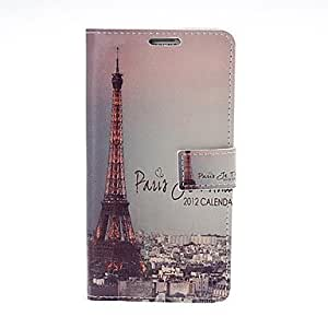 Retro Eiffel Tower Pattern Leather Full Body Case with Stand for Samsung Galaxy Note3 N9000