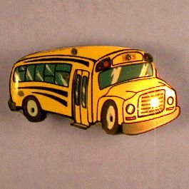 School Bus Flashing Body Light Lapel Pins by (School Bus Pins)