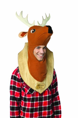 Rasta Imposta Oh Deer Trophy Costume, Brown, One Size