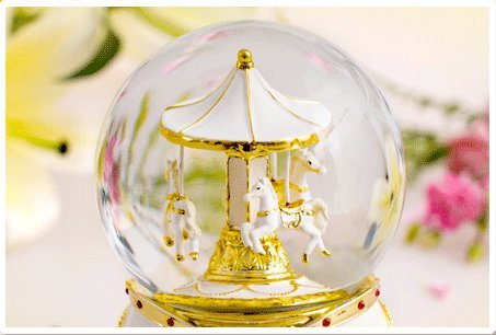 NON ROCK Carousel Horse Crystal Ball Christmas Musical Box Luxury Small Color Change Luminous Rotating by NON ROCK (Image #4)