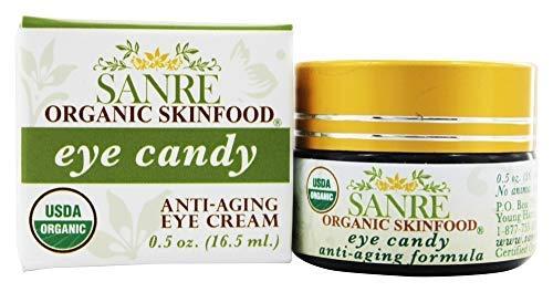 SanRe Organic Skinfood - Eye Candy - USDA Organic Anti-Aging Eye Contour Cream