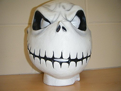 WRESTLING MASKS UK Jack - The Nightmare Before Christmas Latex Deluxe Mask For Adults And Kids Universal -