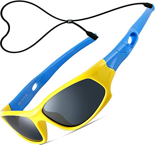 ATTCL Kids Hot TR90 Polarized Sunglasses For Boys Girls Child Age 3-10 1P5025 yellow-blue -