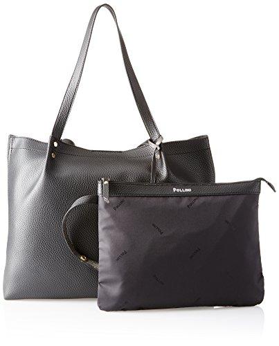 Pollini Bag, Borsa a Mano Donna, Nero, 38x14x29 cm (B x H x T)