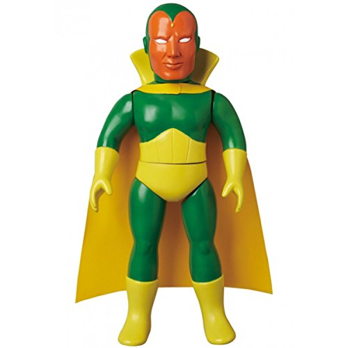 Medicom Toy The Vision Marvel Retro Sofubi Collection Figure In Box