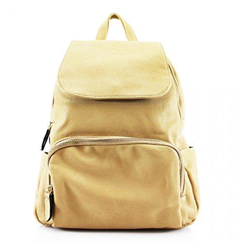 Craze London - Bolso mochila para mujer Beige