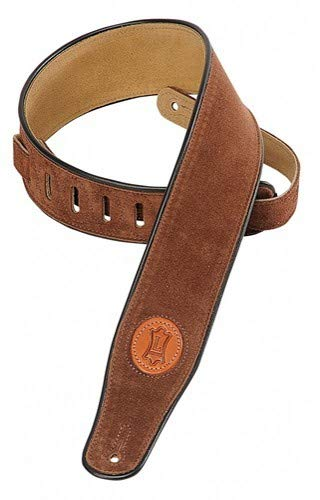 Levy's Leathers MSS3-BRN Signature Series Hand-Brushed Suede Guitar Strap, Brown