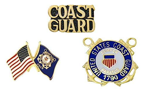 USCG U.S. Coast Guard Pins - Novelty Hat Pin 3 PACK ()