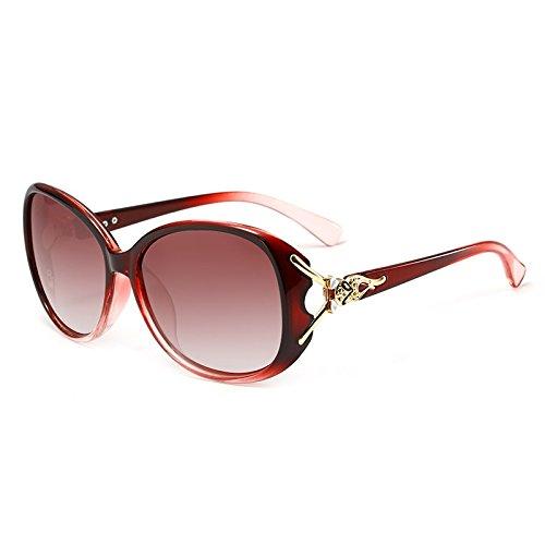 de de Color del Mujeres Fox Alta de Fox400 Las para Calidad 4 la de Gafas de Adultas Sol Manera de Manera 1 Marco del la polarizadas la Gafas Sol ZX Cabeza f8qOPpwz
