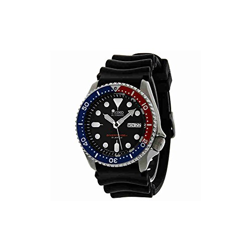 Seiko Divers Automatic Black/Blue Dial Black Rubber Mens Watch SKX009J1 by Pulsar