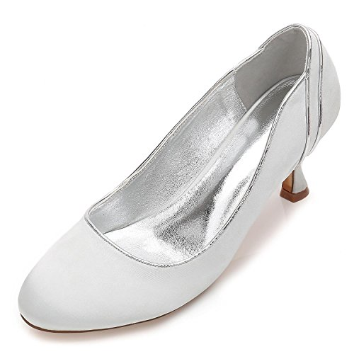 L Wedding D Size YC Platform Pumps Prom Silver Bridal High Ladies 48 17061 Court Womens Shoes Heel EEq1xwTHnr
