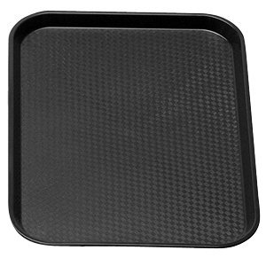 Cambro - Fast Food Tray, Black, 10'' x 14'' - 1014FF-110