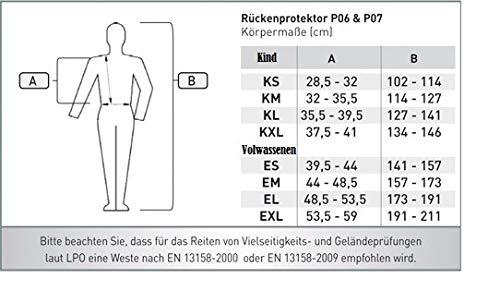 Kind XL Gr schwarz KXL Waldhausen Swing R/ückenprotektor P07 schwarz
