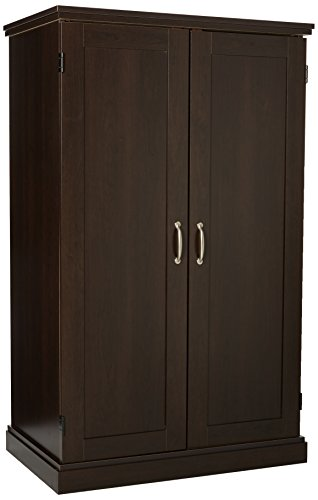 Sauder Computer Armoire, Cinnamon Cherry - Office Computer Furniture Sauder Armoire