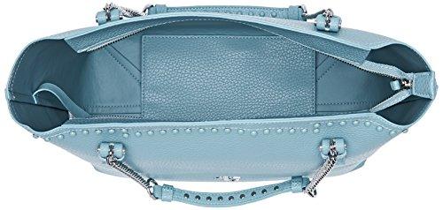Trussardi Jeans Violet, Borsa a Spalla Donna, 27x27x15 cm Blu (Light Blue)