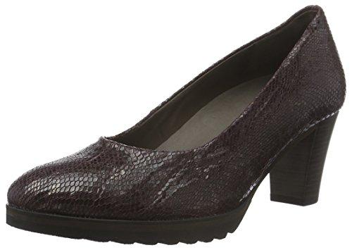 Gabor Shoes Comfort Fashion, Zapatos de Tacón para Mujer Rojo (Dark-Merlot 24)