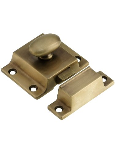 Large Cast Brass Cupboard Latch in Antique-by-Hand