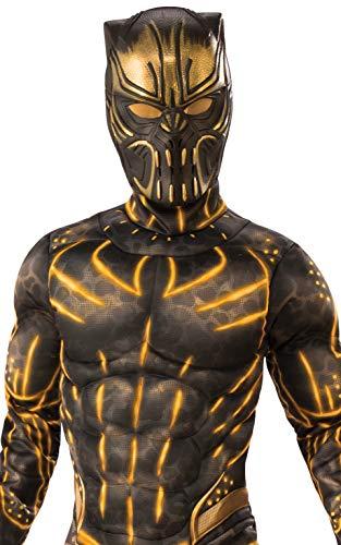 Rubie's Child's Deluxe Black Panther Movie Erik Killmonger Costume, Black/Gold, Medium - http://coolthings.us