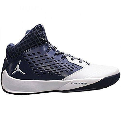 Nike Mens Jordan Rising High Basketball Shoes, Midnight Navy/White/Wolf Grey, 45.5 D(M) EU/10.5 D(M) UK