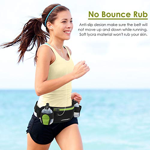 URPOWER Running Belt 6.5 inches Large Pocket Waist Pack Hands-Free Workout Fanny Pack Running Phone Holder with Adjustable Straps /& Reflector Men and Women Running Pouch Belt for iPhone XS//XR HUAWEI
