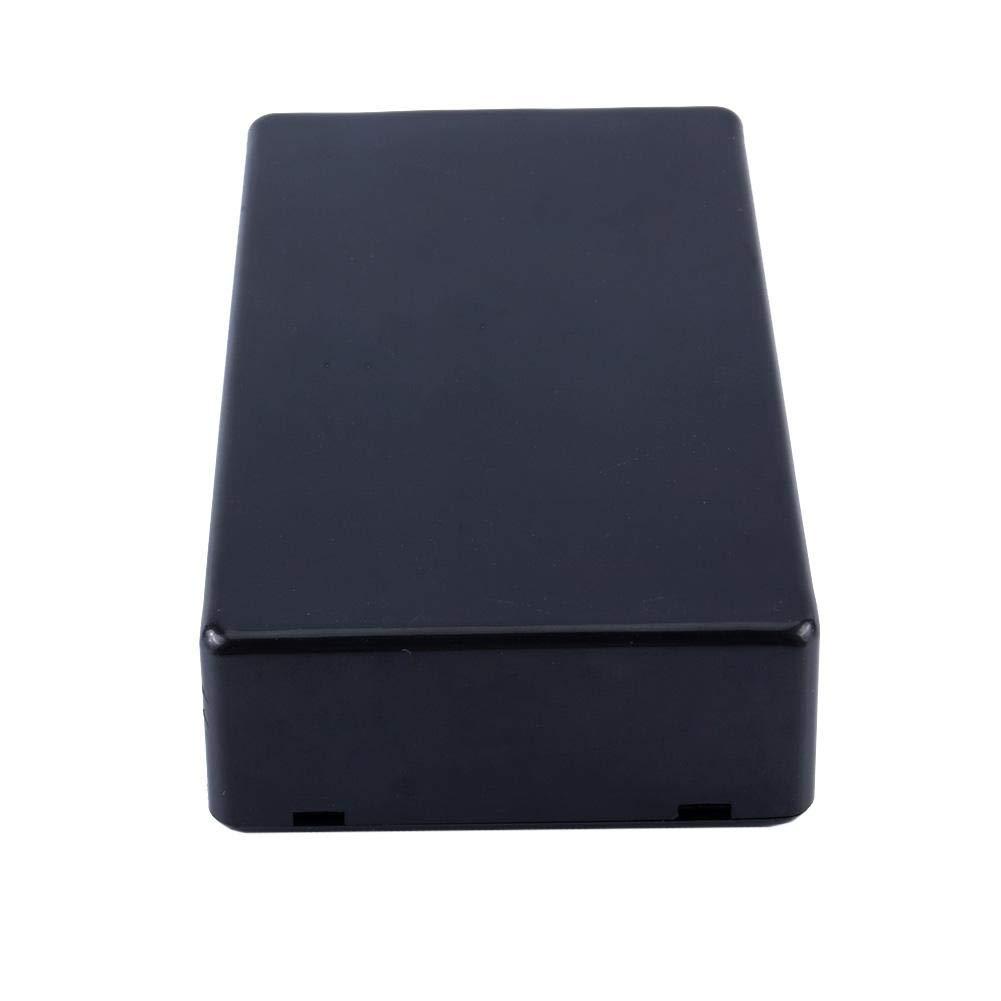 Fydun Plastic Box Project Instrument Case 100x60x25mm Couvercle Plastique Imperm/éable Noir