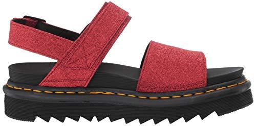 red Size Voss Eu Red 8 Glitter Martens 42 Women's Pu Sandal Fine Dr Buckle PB4zxZ