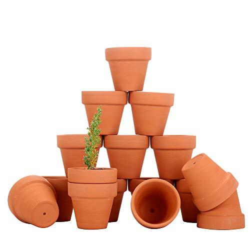 COCOMOON Mini Terra Cotta Flower Pots, 28 Pcs -Count Terracotta Pots, 2 -inch Mini Flower Pots with Drainage Holes,Cacti & Succulent Plants Terra Cotta Pots ()
