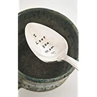 I love You Mom - Hand Stamped Spoon - Gift for Mom - Engraved Spoon - Mother's Day Gift Under 50