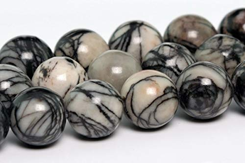 (8MM Natural Black White Swirl Zebra Jasper Beads AAA Round Loose Beads 15.5
