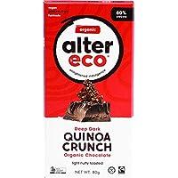 ALTER ECO Deep Dark Quinoa Crunch Organic Chocolate Bar 80 g,  80 g