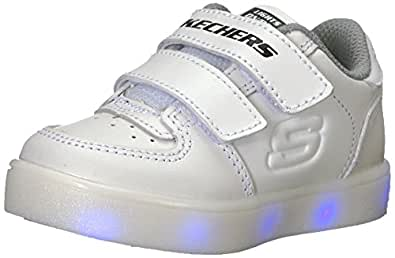 Skechers Energy Lights, Zapatillas Bebé-para Niños, Blanco (White), 21 EU
